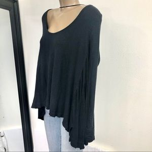 Free people Black Thermal Long Sleeve Top Med